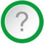 Question mark - concept of a 3d button. Vector.
